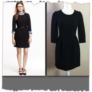 J.Crew Black Teddie Wool Dress